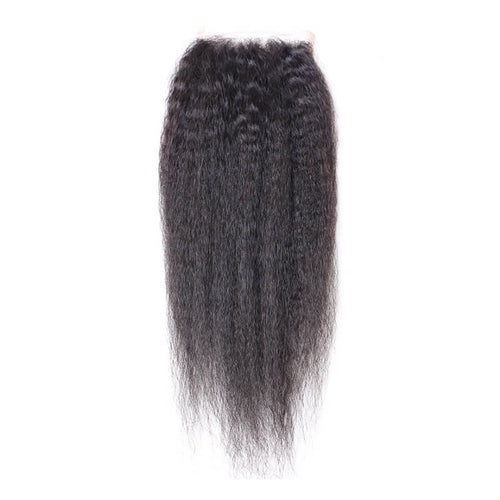 Middle Part Peruvian Kinky Straight Lace Closure - MoWeave Virgin Hair