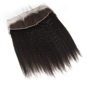 Peruvian Kinky Straight Lace Frontal - MoWeave Virgin Hair