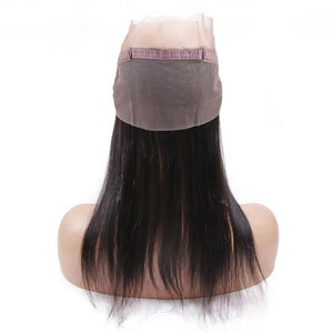 Peruvian Straight 360 Lace Frontal - MoWeave Virgin Hair