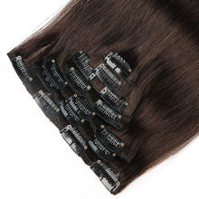 Load image into Gallery viewer, Straight 2# Clip In Dark Brown Hair Extensions - MoWeave Virgin Hair