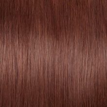 Load image into Gallery viewer, Straight Dark Auburn Fusion I Tip Hair Extensions - MoWeave Virgin Hair