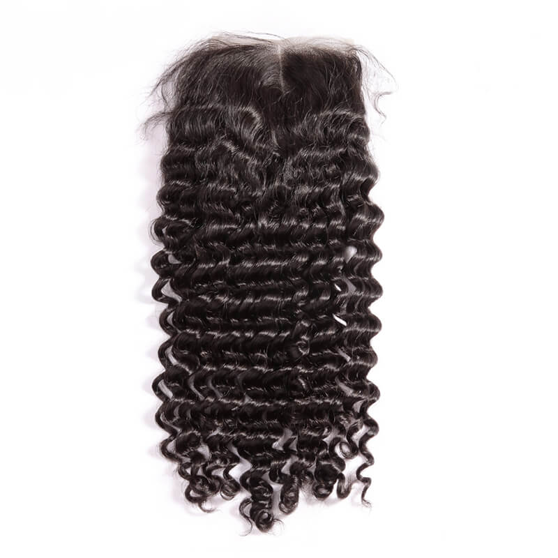 Three Part Brazilian Deep Wave Closure - MoWeave Virgin Hair