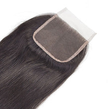 Load image into Gallery viewer, Three Part Brazilian Straight Closure - MoWeave Virgin Hair
