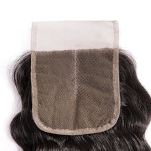 Load image into Gallery viewer, Three Part Brazilian Loose Curly Closure - MoWeave Virgin Hair