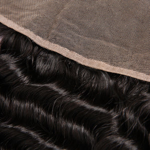 Peruvian Curly Lace Frontal - MoWeave Virgin Hair