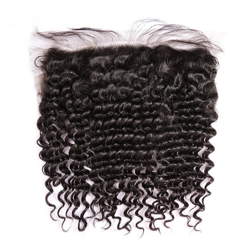 Brazilian Curly Lace Frontal - MoWeave Virgin Hair