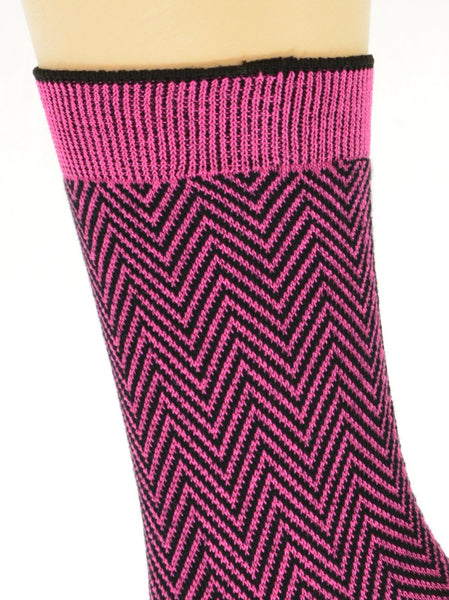 Women's Mercerized Cotton Herringbone Dress Casual Crew - Sierra Socks Wholesale