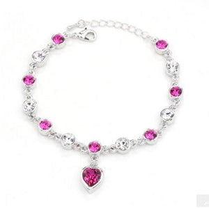 Female Heart Crystal Bracelets