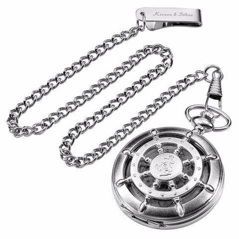 Retro Silver Hollow Pocket Watch