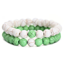 2Pcs Set Unisex Couples Distance Bracelet Various Colors