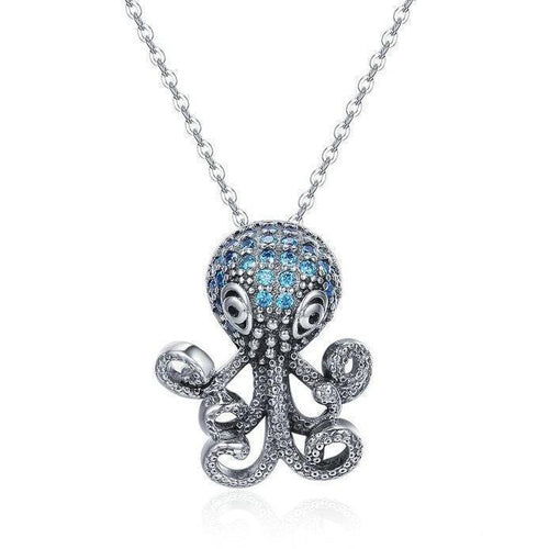 Sterling Silver Octopus Necklace