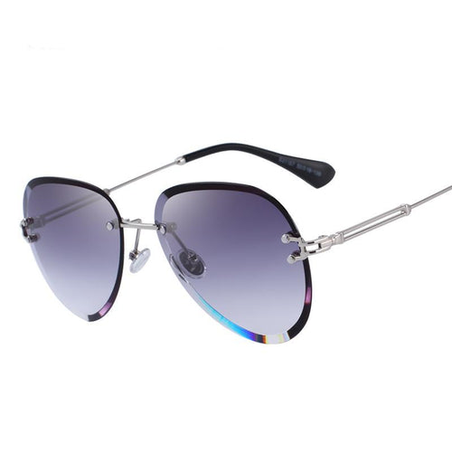 Rimless Pilot Sunglasses