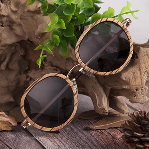 Zebra Wooden Bamboo Sunglasses