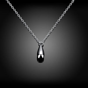 Raindrop Necklace in 18K White Gold Plated