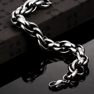 Thick Cut Chain Bracelet
