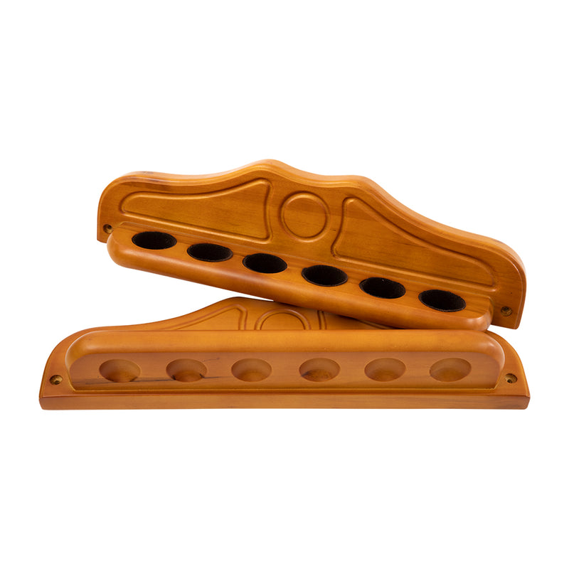 ECONO 2 PIECES CUE RACK (6) - HONEY