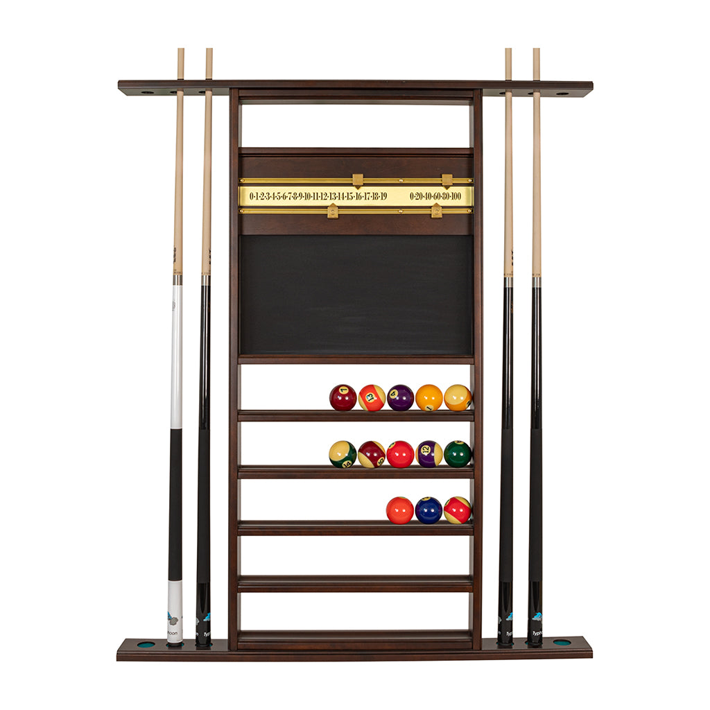 WALL COMBO SCOREBOARD (6) & BALL RACK
