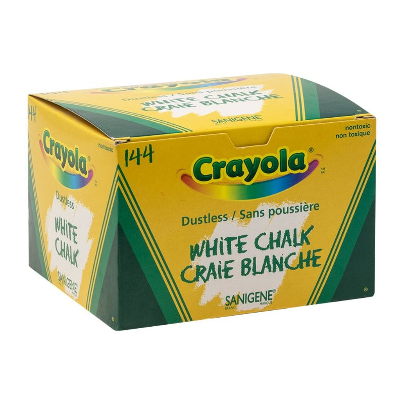 BOX OF 144 DUSTLESS WHITE CHALKS