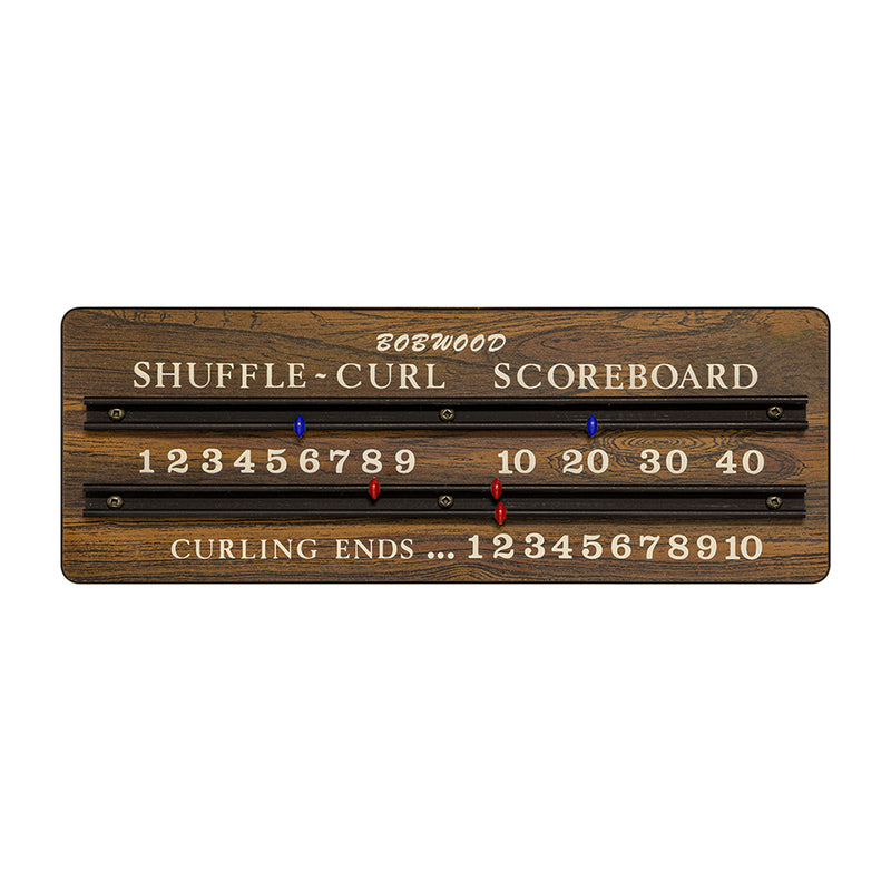 BOBWOOD SHUFFLE CURL SCOREBOARD WITH BLUE/RED POINTERS (DISCONTINUED PRODUCT)