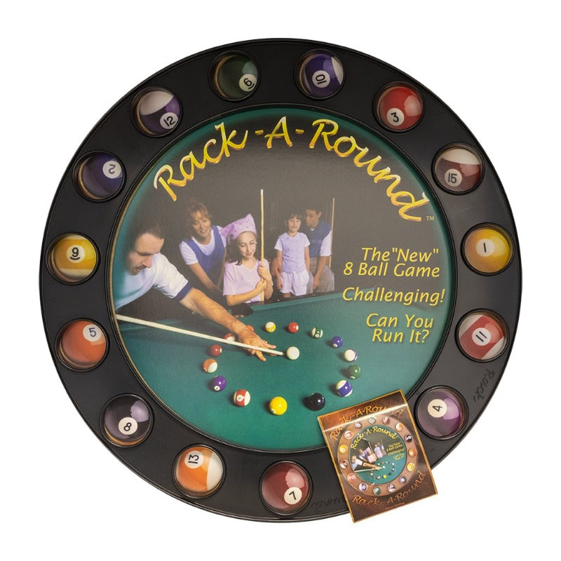 RACK-A-ROUND NEW 8 BALL GAME