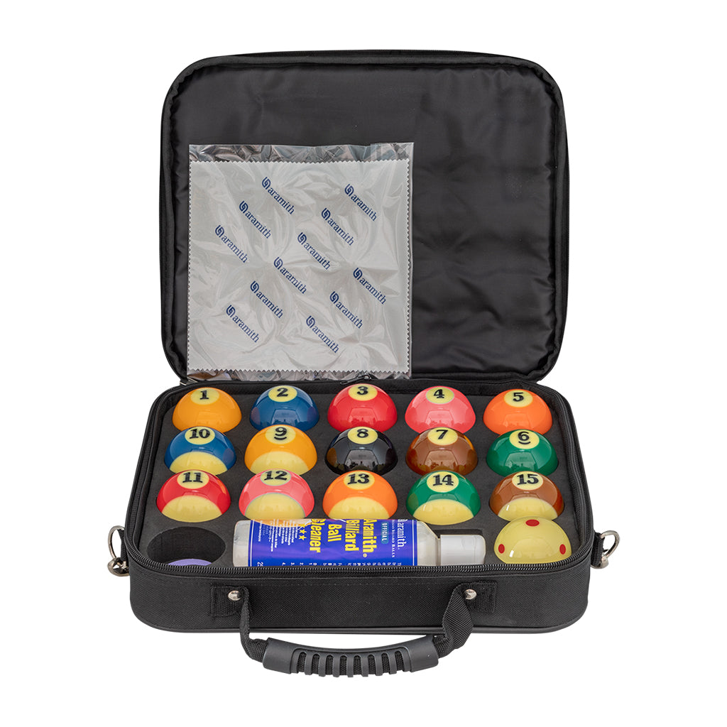 ARAMITH TV POOL BALL CASE BALLS SET