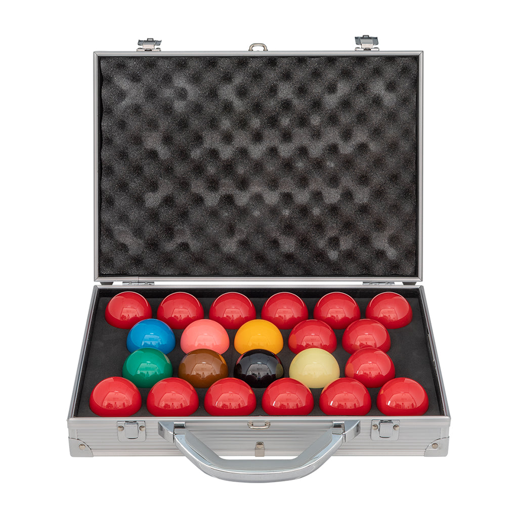 ARAMITH TOURNAMENT CHAMPION SUPER PRO1G SNOOKER BALL SET WITH ALUMINIUM CASE
