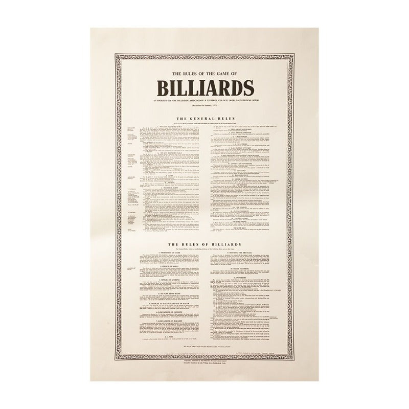 RULES OF BILLIARD