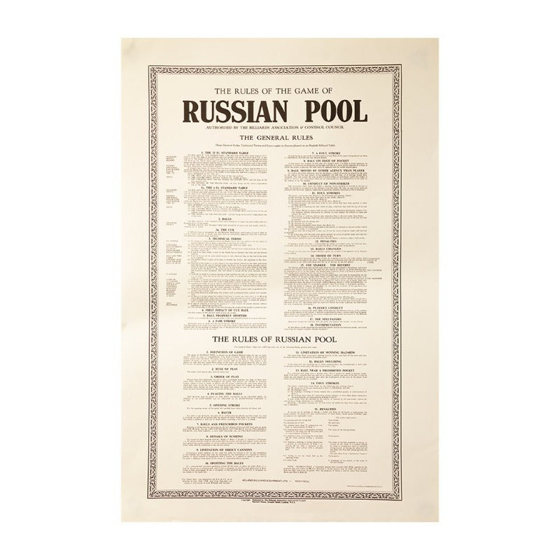 RULES RUSSIAN POOL