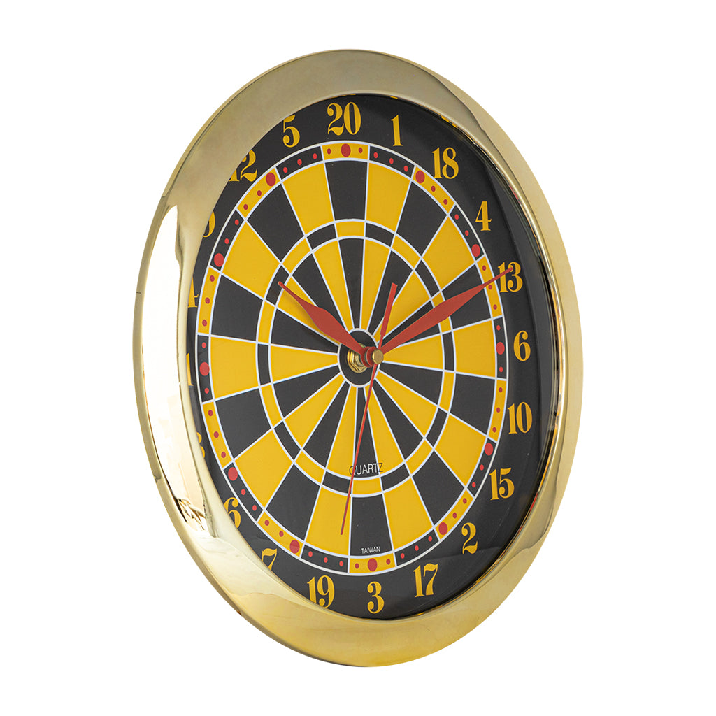 DARTBOARD CLOCK 11'' DIAMETER
