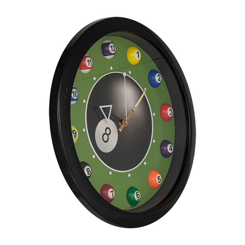 BILLIARD CLOCK #8 11'' DIAMETER
