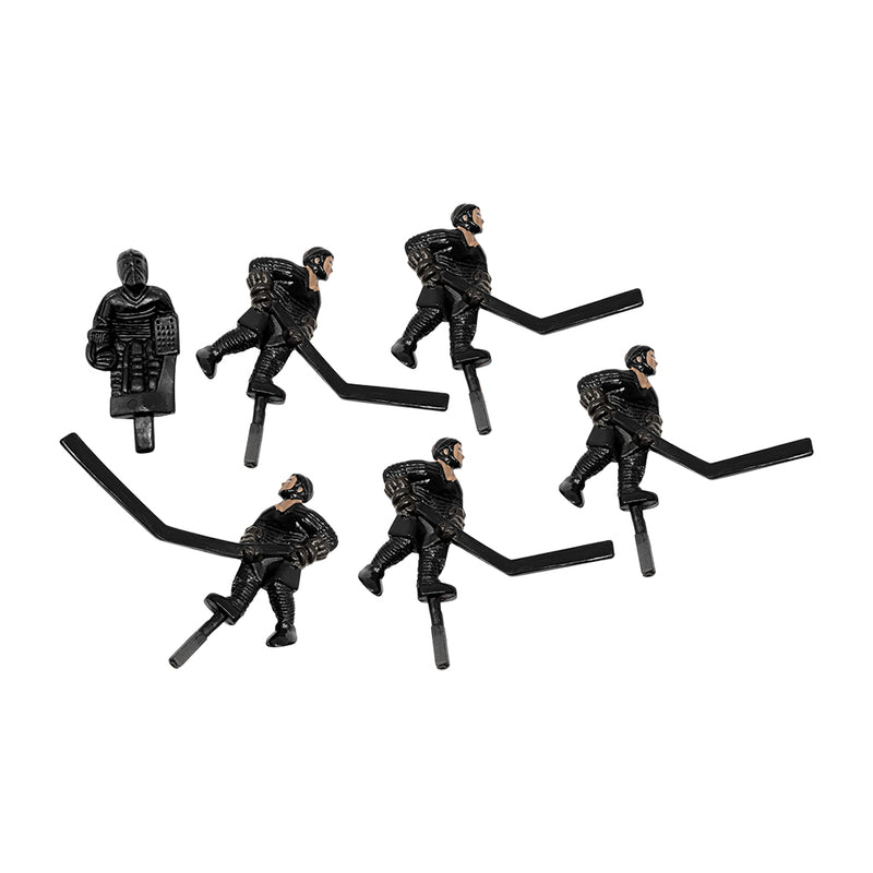SET/6 BLACK PLAYERS SLAPSHOT HOCKEY DOME