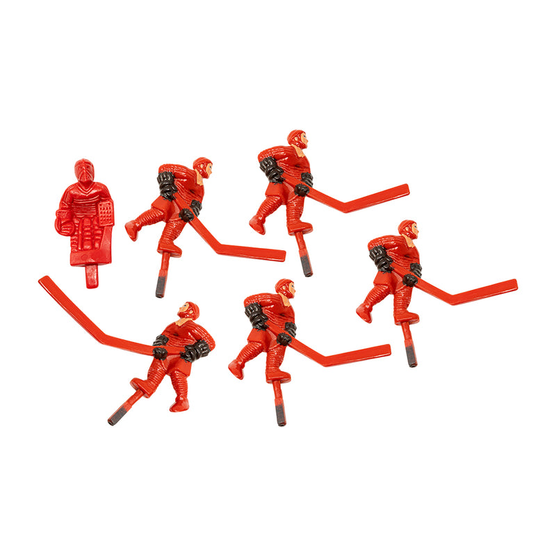 SET/6 RED PLAYERS SLAPSHOT HOCKEY DOME