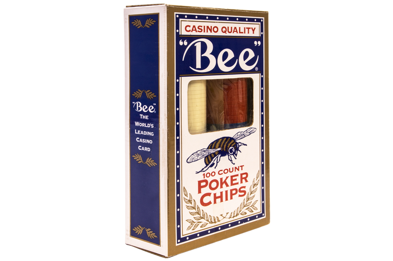 BEE PREMIUM POKER CHIPS 100 PER BOX