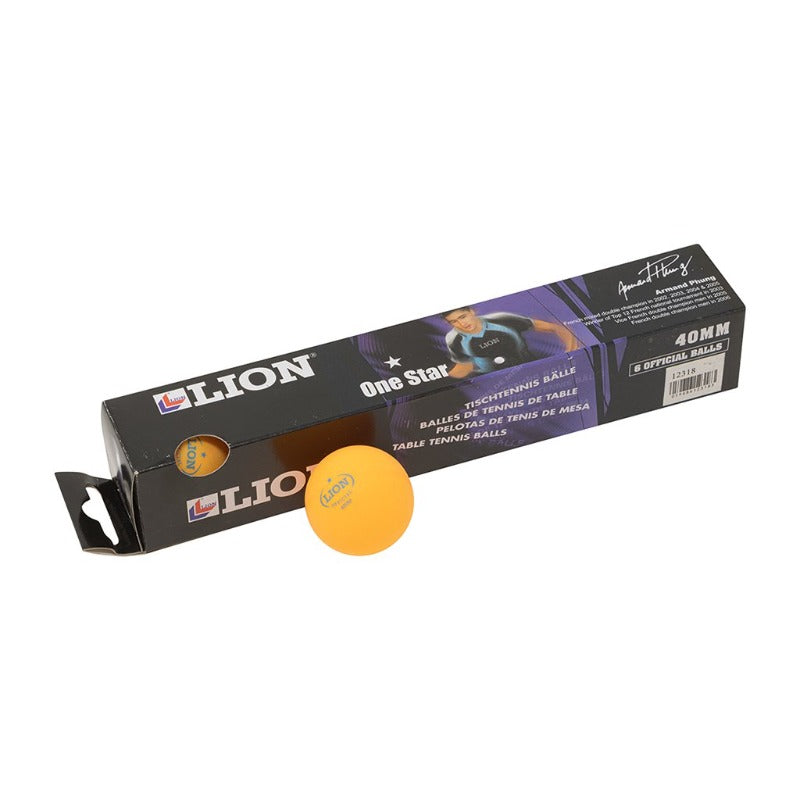 BOX/6 LION ORANGE BALLS 1 STAR