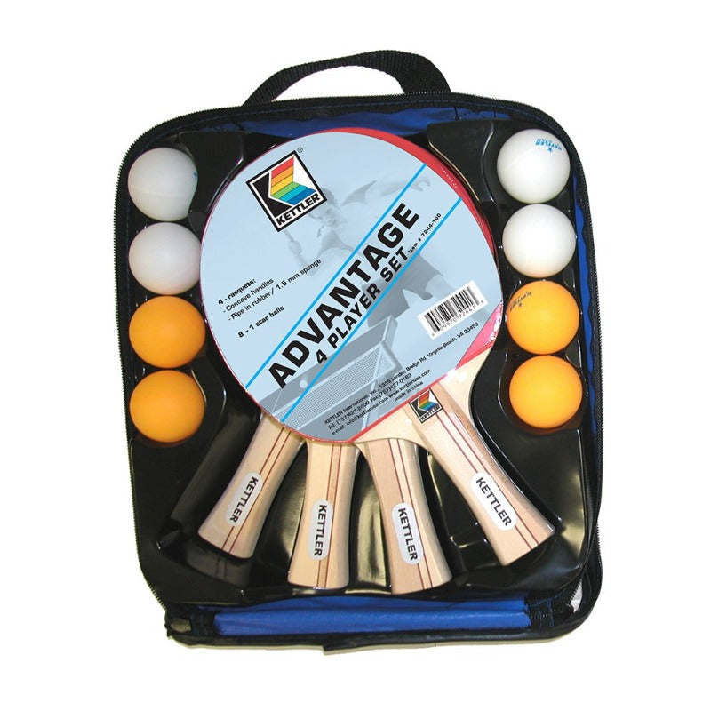 KETTLER ADVANTAGE PING PONG SET 4-PLAYERS / 8-BALLS