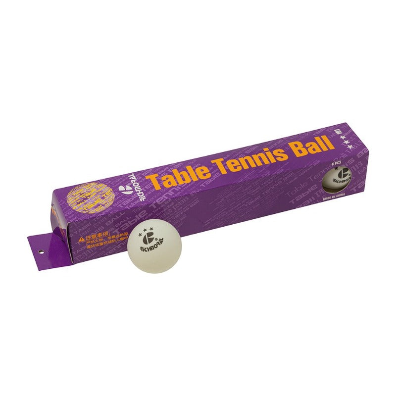 BOX/6 RICHMORAL WHITE TABLE TENNIS BALL