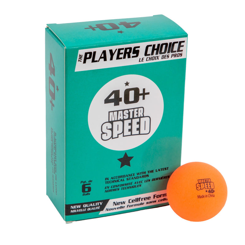 1 STAR MASTER SPEED BALLS IN 6 BLISTER BOX, ORANGE BALLS