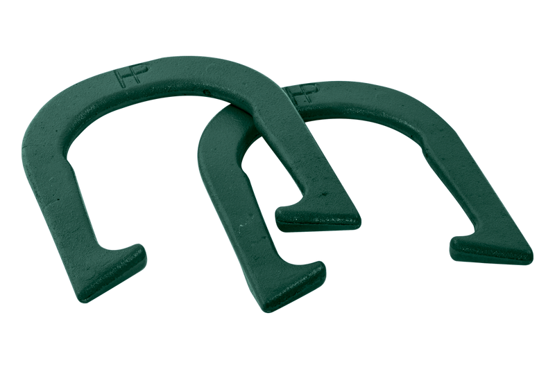 PROFESSIONAL HORSESHOES SET OF 2 - 2.9 CAST IRON GREEN