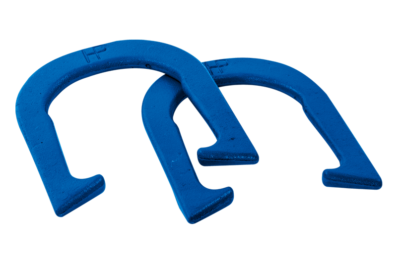 PROFESSIONAL HORSESHOES SET OF 2 - 2.9 CAST IRON BLUE