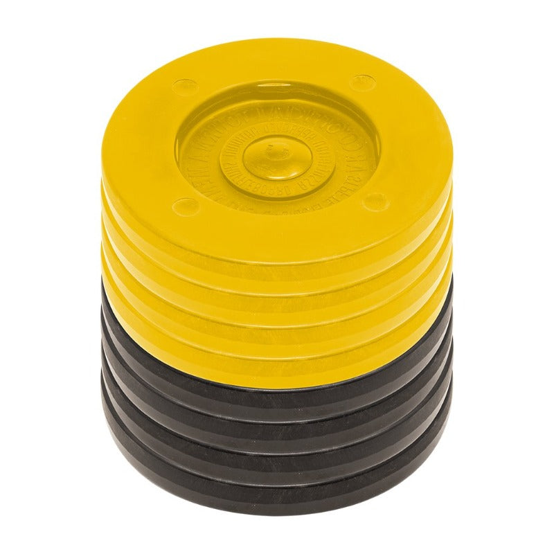 SET 8 ARCO TOURNAMENT DISCS  4 YELLOW/4 BLACK