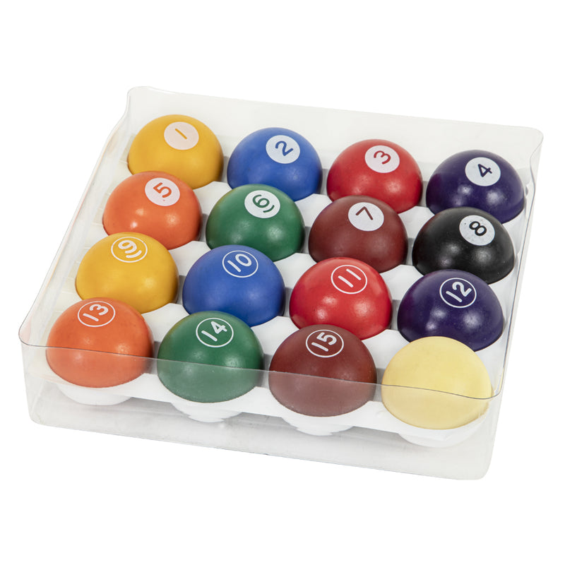 SET OF MASTER SPEED PLASTIC POOL BALLS