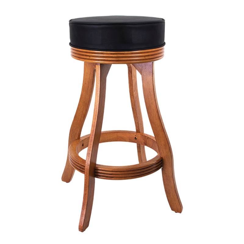 STOOL GAME BAR OAK FINISH WITH PVC SEAT
