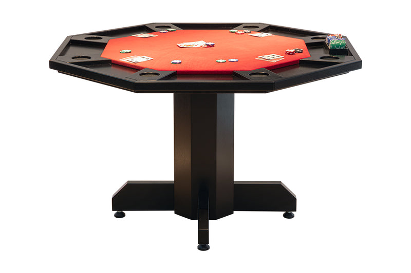 OCTOGONAL 2 IN 1 POKER/DINING TABLE FOR 8 PLAYERS