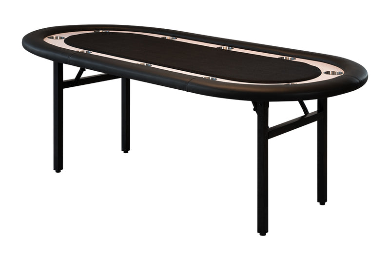 RECTANGULAR MASTER SPEED 7' POKER TABLE - BLACK