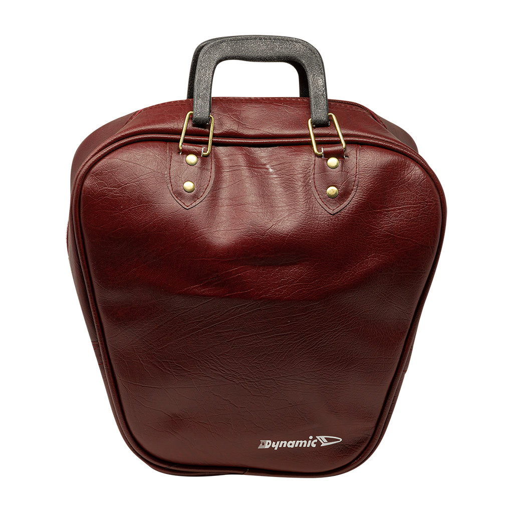 1 BALL VINYL BAG - BURGUNDY