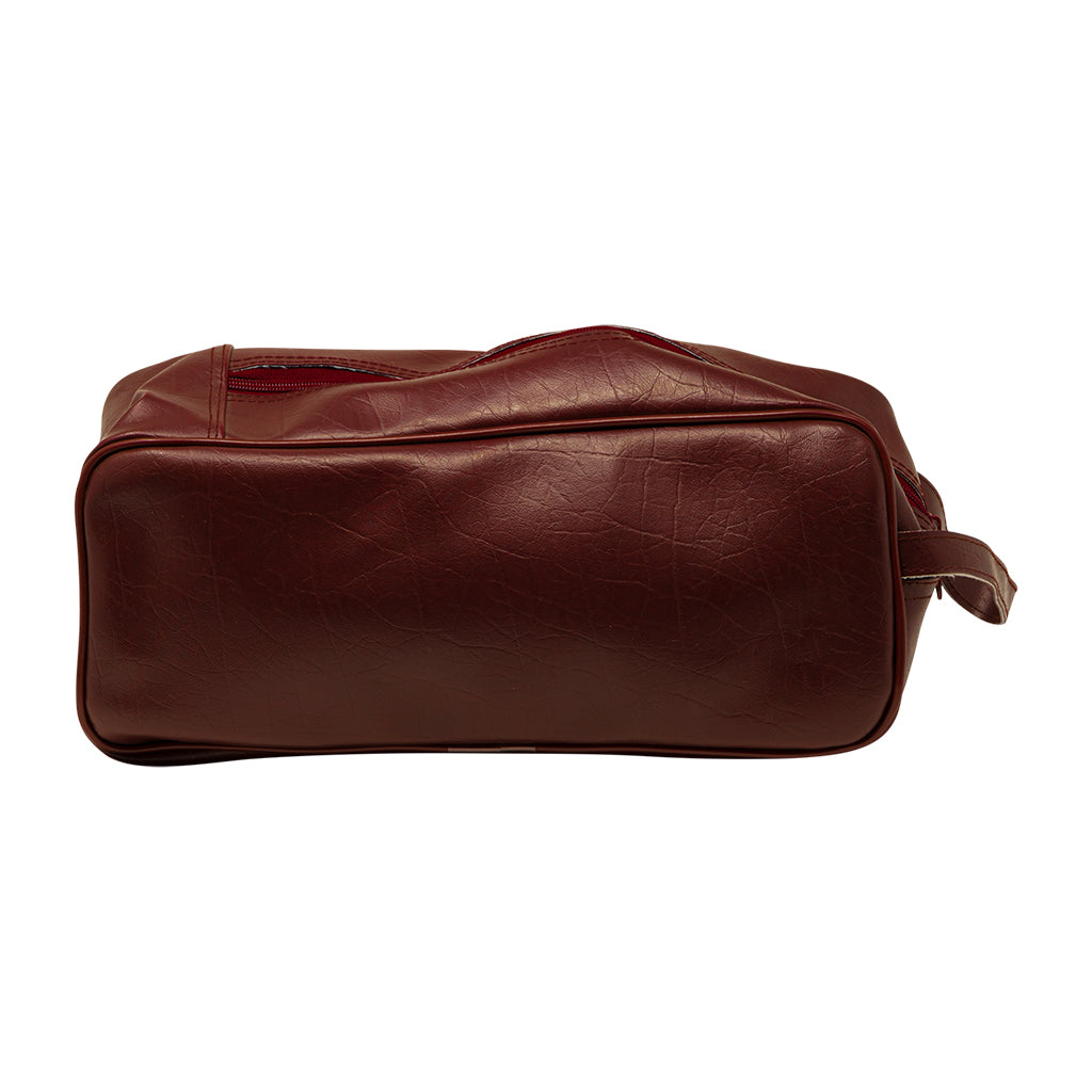2 SMALL BALLS VINYL BAG - BURGUNDY