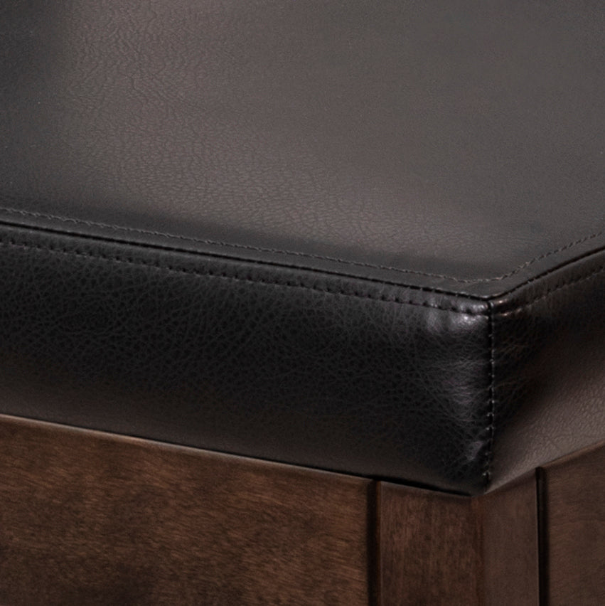 LA CONDO LEATHER BENCH