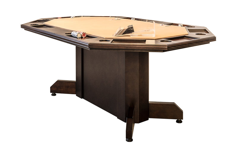 MARVELOUS 2 IN 1 POKER/DINING TABLE FOR 10 PLAYERS