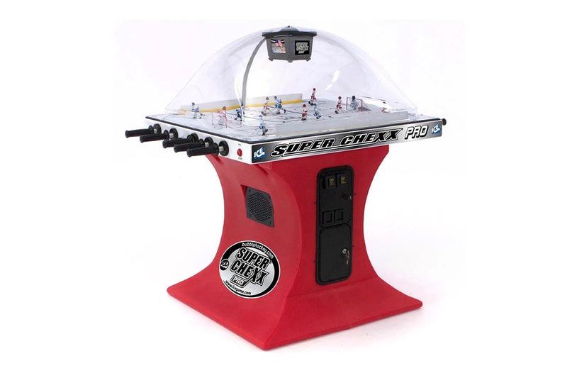 SUPER CHEXX PRO HOCKEY DOME COIN-OP RED