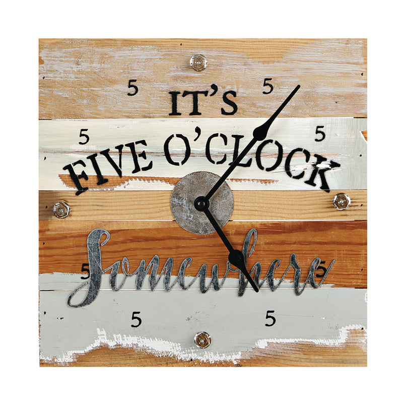 FIVE O'CLOCK SOMEWHERE CLOCK